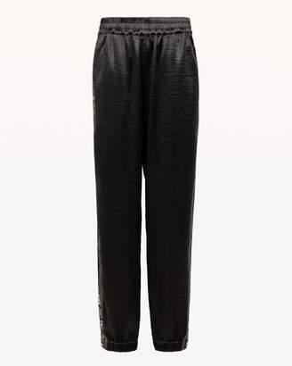 Juicy Couture JXJC Juicy Side Stripe Satin Track Pant