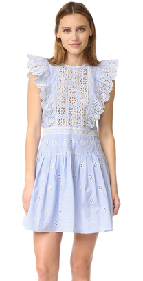 Sea Ruffled Eyelet Dress $450 thestylecure.com