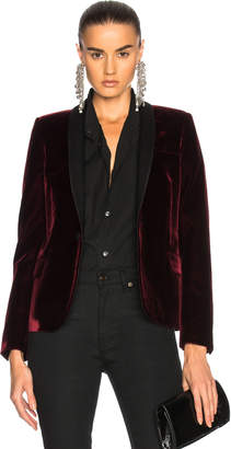 Saint Laurent Velvet Single Button Blazer