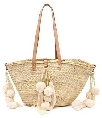 Giselle Celeste Straw Tote Bag