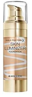 Max Factor Skin Luminiser Foundation Warm Almond 45 (Pack of 2)