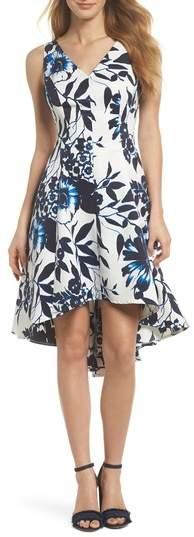 High/Low Hem Fit & Flare Dress