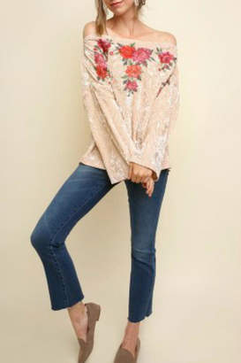 Umgee USA Floral Embroidered Off-Shoulder
