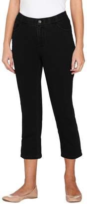 Denim & Co. Regular Comfy Knit Denim 5-Pocket Crop Jeans
