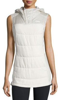 The North Face Pseudio Tunic Vest, Moonlight Ivory Heather/Moonlight Ivory $90 thestylecure.com