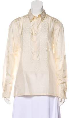 Ralph Lauren Embroidered Silk Blouse w/ Tags