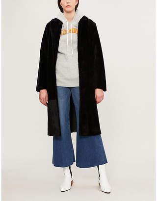Sandro Self-tie shearling coat