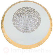 Runde LED-Deckenleuchte Ohana, weiß-gold