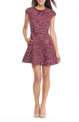 Gal Meets Glam Nell Boucle Dreams Tweed Fit & Flare Dress