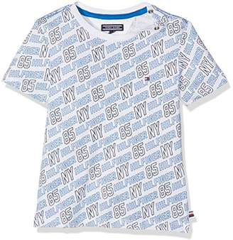Tommy Hilfiger Boy's All-Over Print Cn Tee S/S T-Shirt,(Manufacturer Size: 4)