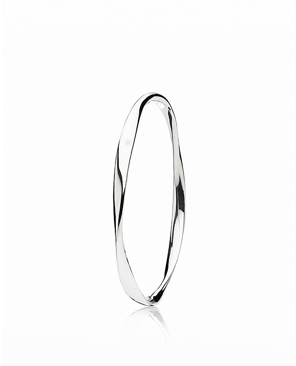 PANDORA Bangle - Sterling Silver Small Liquid