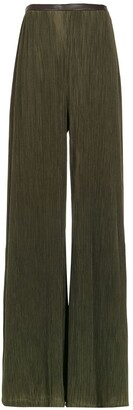Adriana Degreas Pleated wide trousers