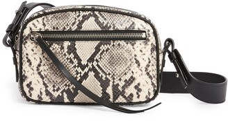 AllSaints Sliver Snake Embossed Leather Belt Bag