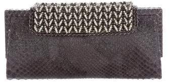 Giorgio Armani Embellished Python Clutch