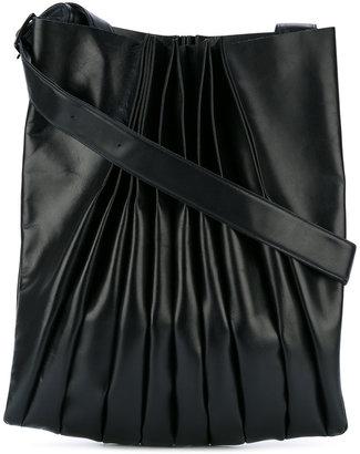 Yohji Yamamoto ruched shoulder bag $958.47 thestylecure.com