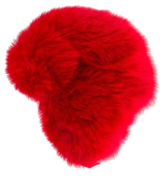 Moncler Fox Fur Trapper Hat w/ Tags