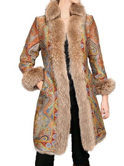 Etro - Reversible Coyote-Rabbit Fur Coat