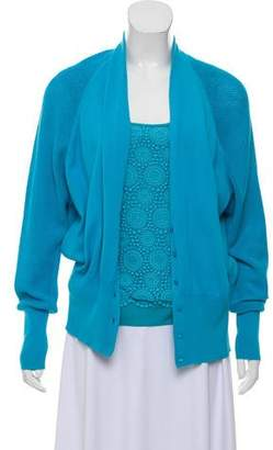 Rena Lange Virgin Wool Blend Cardigan Set