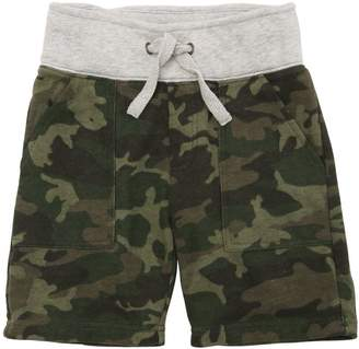 Camo Print Cotton Sweat Shorts