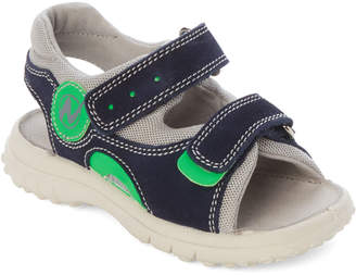 455501078825a Naturino Toddler/Kids Boys) Blue & Grey Suede Sandals