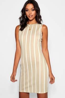 boohoo Tall Stripe Mini Dress