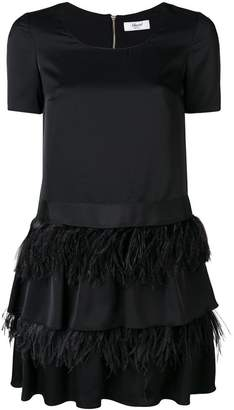 Blugirl frill feather detail dress