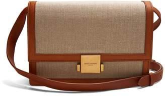 Bellechasse medium leather-trimmed canvas bag