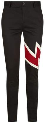 Givenchy Lightning Bolt Patch Trousers