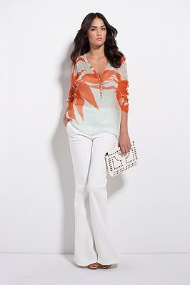 Keith Top in Falling Willow Black or Sunrise Bloom Mint