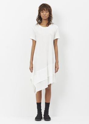 Nocturne #22 off white asymmetrical long t-shirt