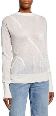 Helmut Lang Elasticized Cashmere Crewneck Sweater