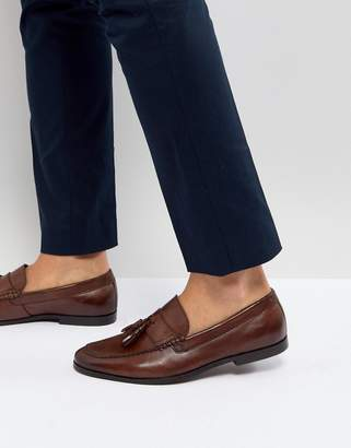 WALK LONDON Walk London Tassel Leather Loafers In Brown