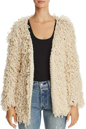 Freeway Looped Shag Open Cardigan