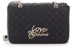 Love Moschino Quilted Logo Crossbody Bag