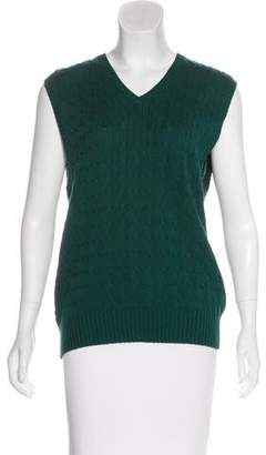 Oscar de la Renta Cable Knit Sweater Vest