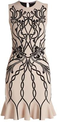 Alexander McQueen Art Nouveau Intarsia Sleeveless Dress - Womens - Pink Multi
