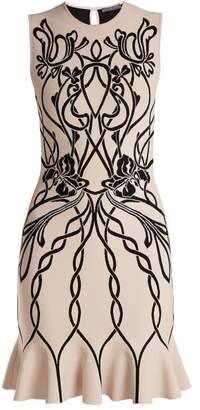 Alexander Mcqueen - Art Nouveau Intarsia Sleeveless Dress - Womens - Pink Multi