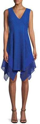 Derek Lam 10 Crosby V-Neck Sleeveless Pieces Lace Dress