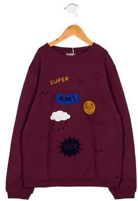Emile et Ida Girls' Embroidered Long Sleeve Sweatshirt w/ Tags
