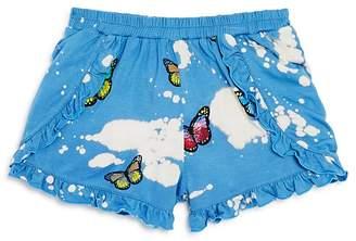 Flowers by Zoe Girls' Bleached & Ruffled Butterfly Shorts - Little Kid
