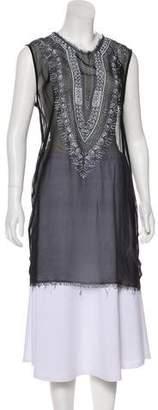 Raquel Allegra Silk Sleeveless Tunic Top