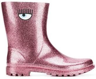 Chiara Ferragni Logomania rain boots