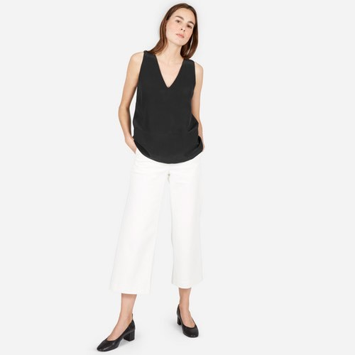 The Double-Lined Silk V-Neck Tank