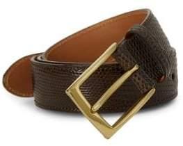 Saks Fifth Avenue Lizard Leather Belt
