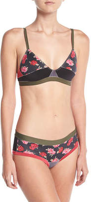 Xirena The Boys Are Back Gisele Camouflage Bralette