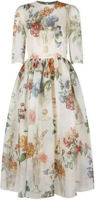 Dolce & Gabbana Silk Floral Midi Dress