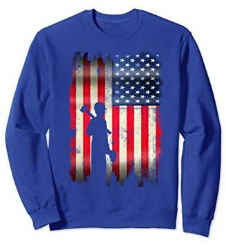 USA Vintage American Flag Construction Worker Sweatshirt