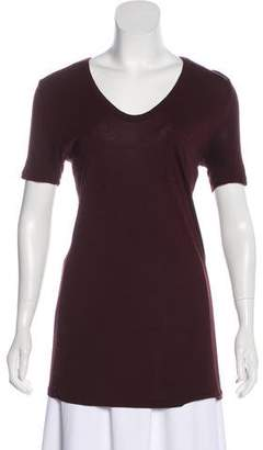Alexander Wang Short Sleeve Scoop Neck Top
