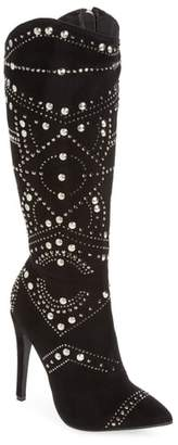 Ralph Lauren Lorraine Lucky Studded Knee High Boot