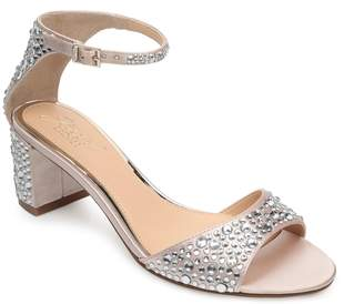 Badgley Mischka Crystal Block Heel Sandal